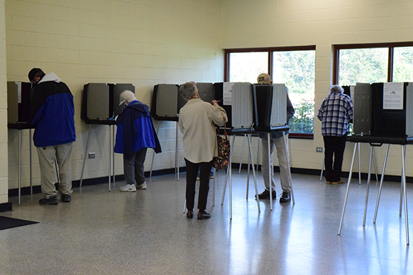 Press photo/Linda Mathias - Turnout has been heavy during early voting, which ends at 3 p.m. Saturday, Oct. 31.