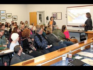 Press photo/Jake Browning The Macon County Board of Education ran out of room to hold everyone who came to support arts education at their monthly meeting on Monday night.