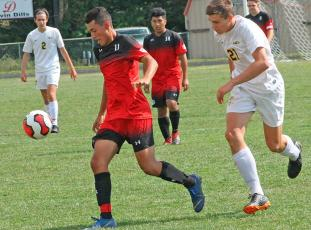 Press file photo - Cris Chavez had a breakout senior season, scoring 39 goals to go with nine assists. It helped him land a spot with a junior college program.