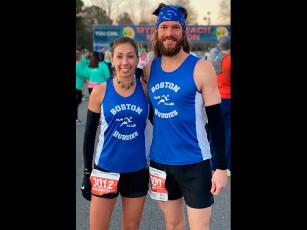 Photo submitted - Kim Jakushev will make her second straight appearance at the Boston Marathon, while Dave Evans will make his debut. The race was postponed until Sept. 14.