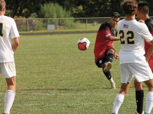 "Press file photo - Juan Gomez possesses a ""rocket left foot"" according to Franklin soccer coach Matt Kolodzik, which will serve him well at the next level."