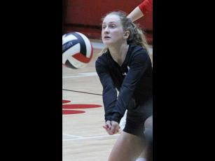 Press file photo - Rhiley Bryson made 1,344 digs during her three-year varsity career.