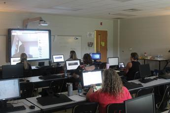 Press photo/Jake Browning - Teachers get ready for more digital learning