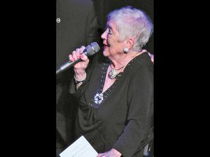 File photo Patti McClure provided some of the entertainment at her annual Entertainment Tonight fundraiser.