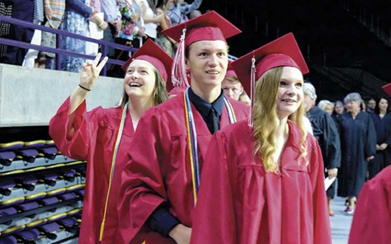 File photo - Franklin High graduates enjoy their moment in the spotlight at the 2019 commencement.